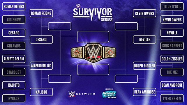 VoicesOfWrestling.com - Survivor Series Tournament Bracket