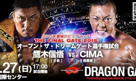 Dragon Gate Final Gate 2015 Preview
