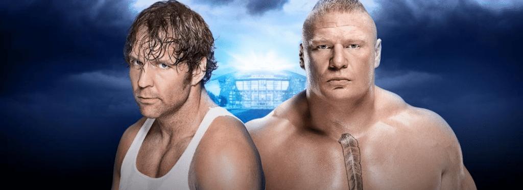 WrestleMania 32 No Holds Barred Dean Ambrose vs Brock Lesnar