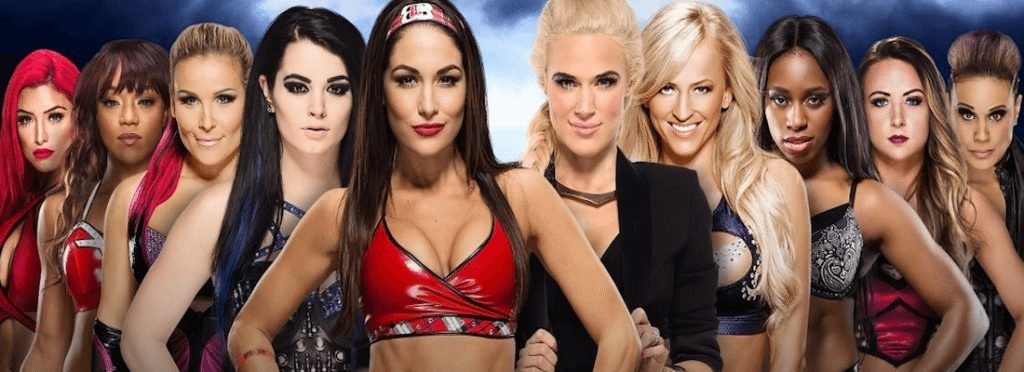 voicesofwrestling.com WrestleMania 32 Total Divas vs B.A.D. & Blonde