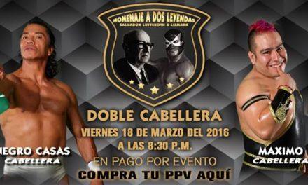 Two Bald Men: CMLL  Homenaje a Dos Leyendas 2016 Preview
