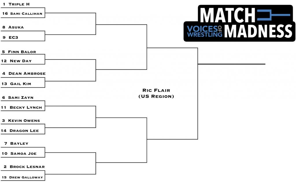 voicesofwrestling.com vow match madness tournament flair bracket