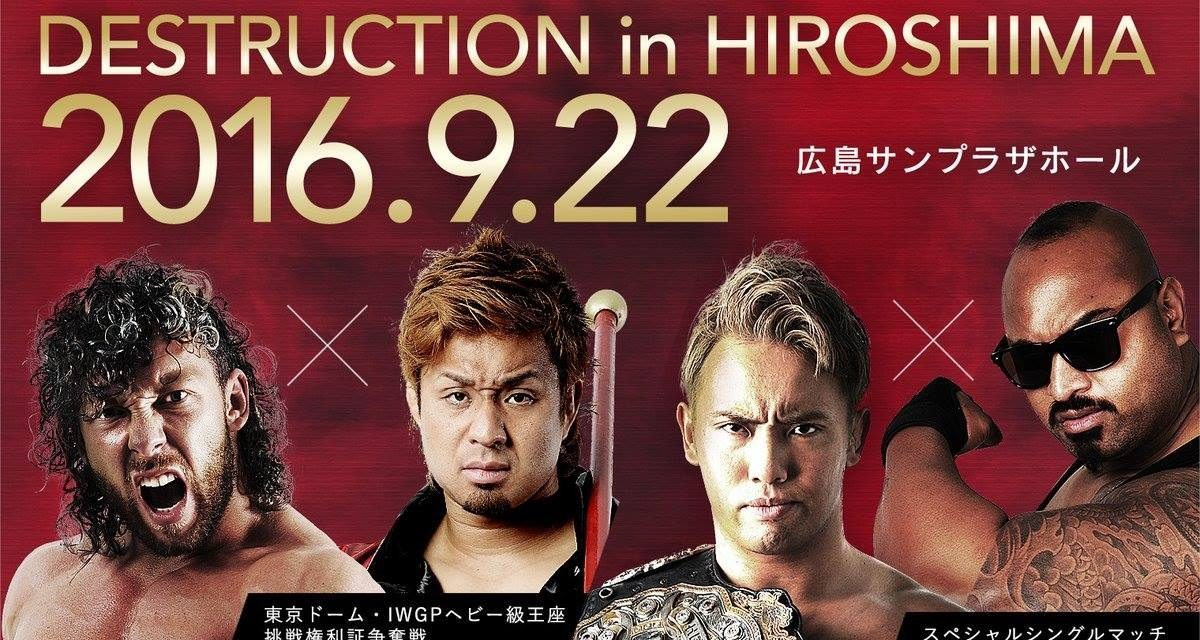NJPW Destruction in Hiroshima (September 22nd) Results & Review
