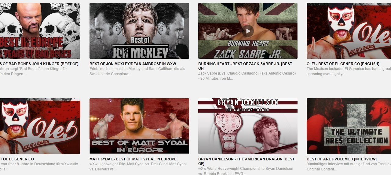 wXw Now: A Complete Streaming Service