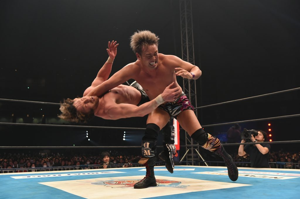 VoicesofWrestling.com - Kazuchika Okada Kenny Omega NJPW on AXS TV Wrestle Kingdom 11