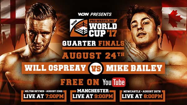 WCPW Pro Wrestling World Cup Quarter Final Results & Review