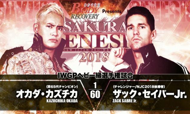 NJPW Sakura Genesis 2018 (April 1) Results & Review