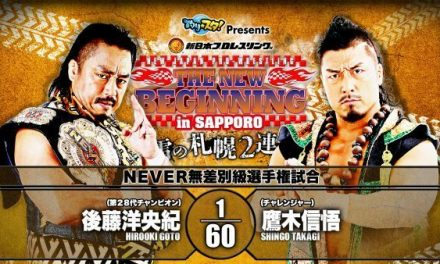 Sport of Pro Wrestling — NJPW New Beginning In Sapporo 2020 (Night 1) Statistics & Research
