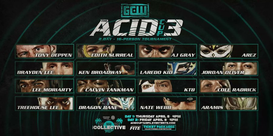 GCW The Acid Cup 3 Day 1 (April 8) Results & Review