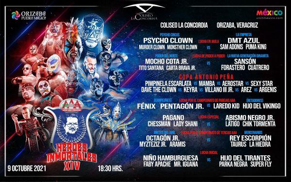 AAA Heroes Inmortales XIV (October 9) Preview